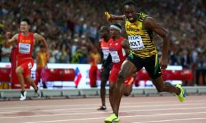 Usain Bolt en los relevos