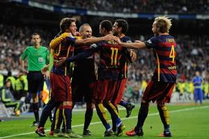 El Barcelona celebra la victoria
