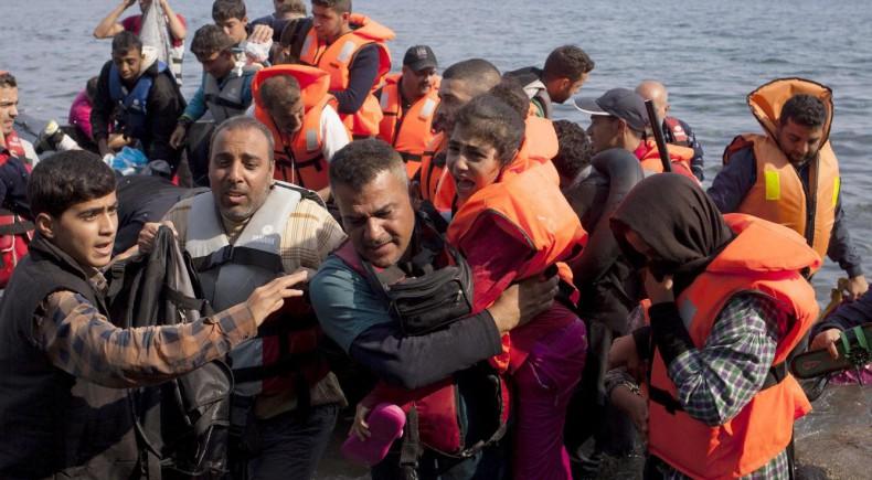 Refugiados llegando a Europa. FOTO: El Confidencial