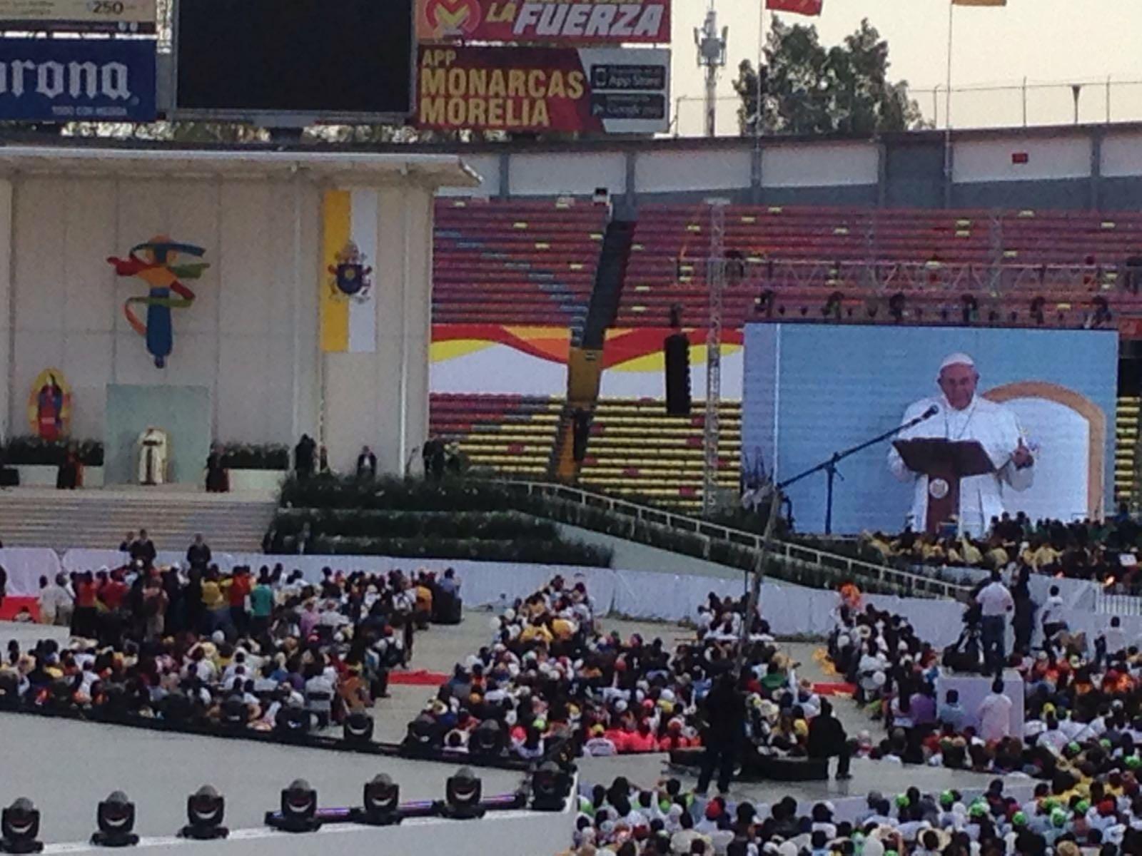 El Papa dio un mensaje centrado en la esperanza. Foto de: Úrsula Martínez