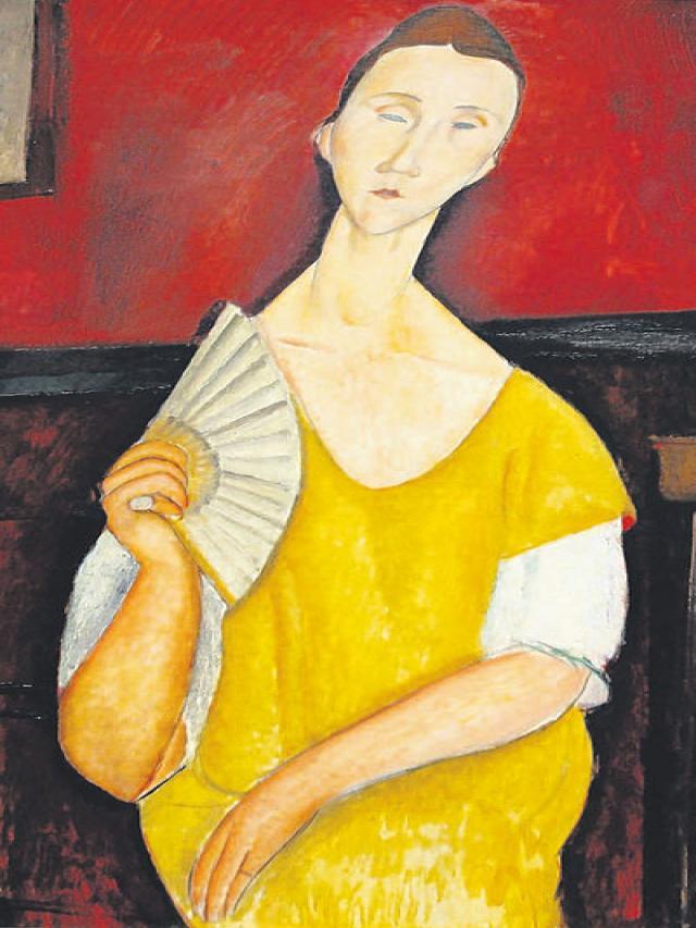La mujer del abanico, de Amadeo Modigliani.
