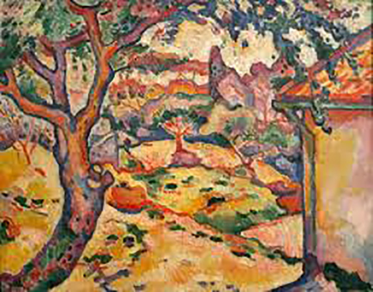 El olivo cerca del estanque, de Georges Braque.