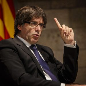 Carles Puigdemont, presidente de la Generalitat de Cataluña. FOTO: Sergi Alcázar para El Nacional.