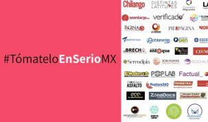 Etiqueta y medios de #TómateloEnSerioMX