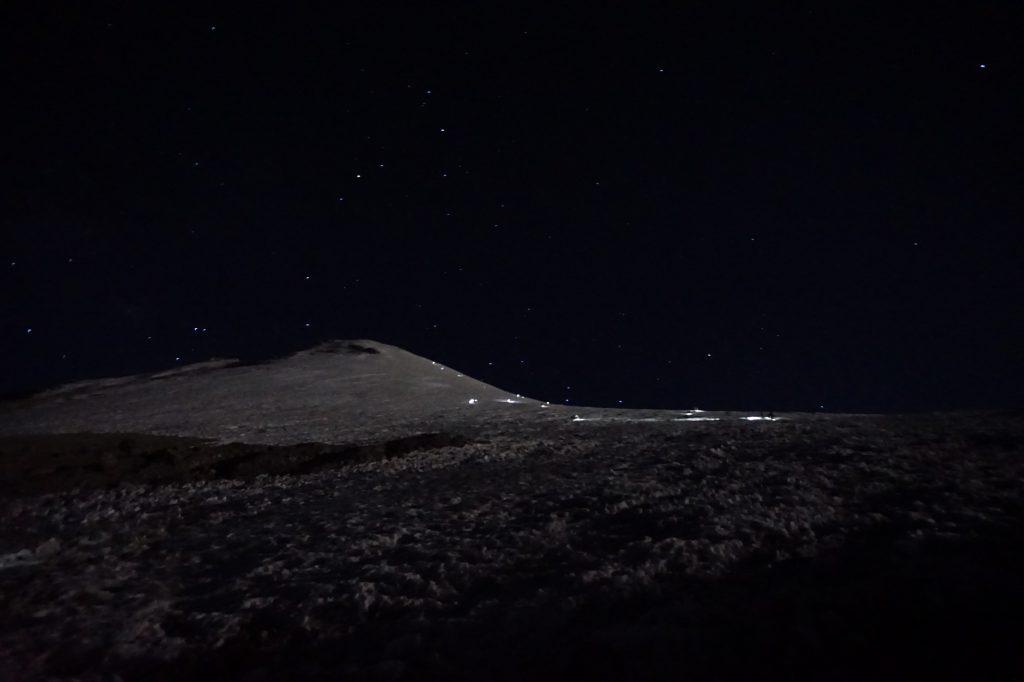 Durante la subida del glaciar Jamapa, se sube una diferencia de 800 metros de altura.