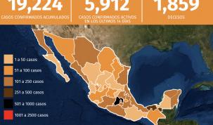 Mapa del coronavirus en México