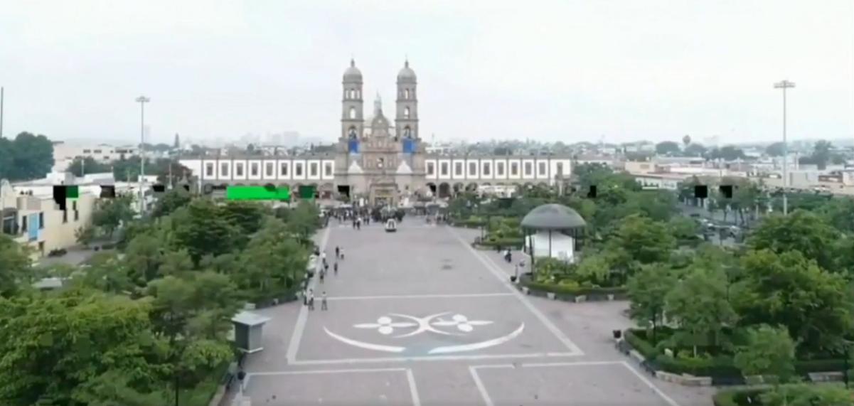 La Plaza Juan Pablo II este año lució desolada por la pandemia del Covid-19